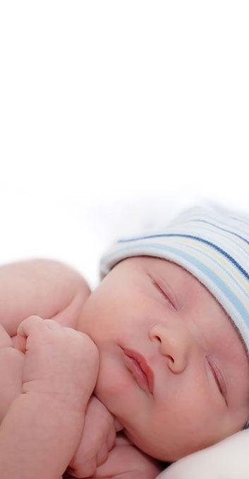 piel del bebé recién nacido